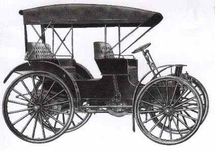 En riktigt elegant Auto Buggy från 1911 med både tak och passagerarsäte