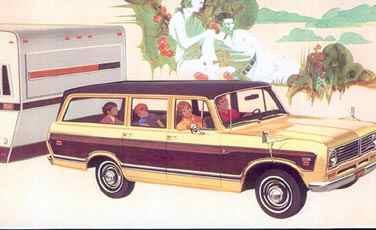 En Travelall 1973 i lyxutförande var den perfekta dragbilen  för familjens husvagn